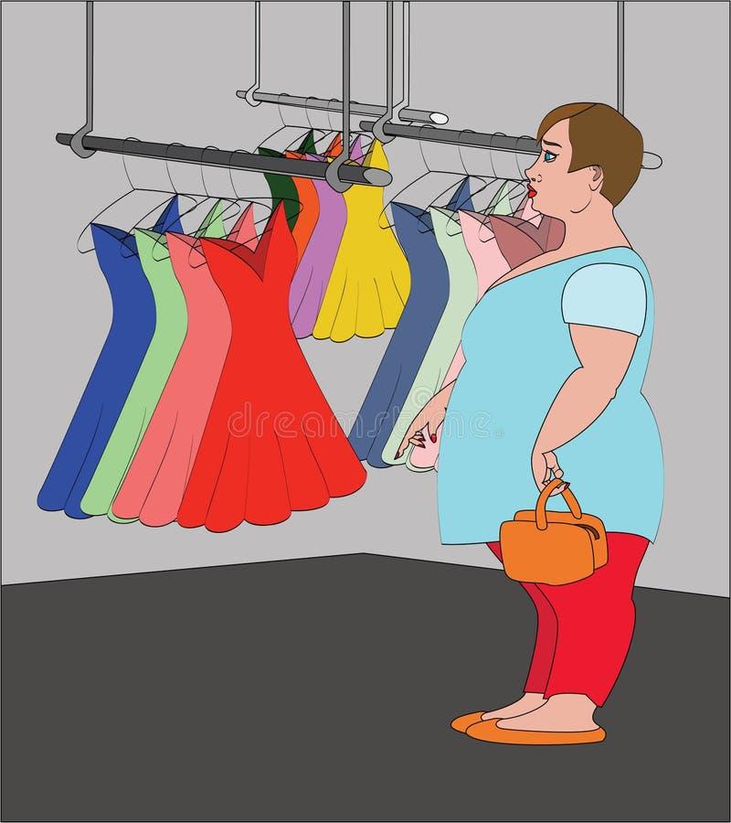 Mujer gorda libre illustration
