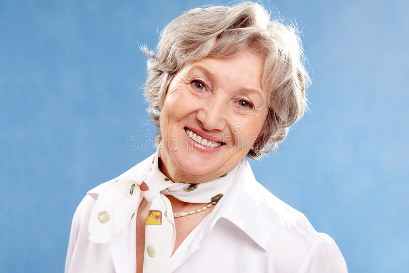 Mujer Grey-haired fotos de archivo libres de regalías