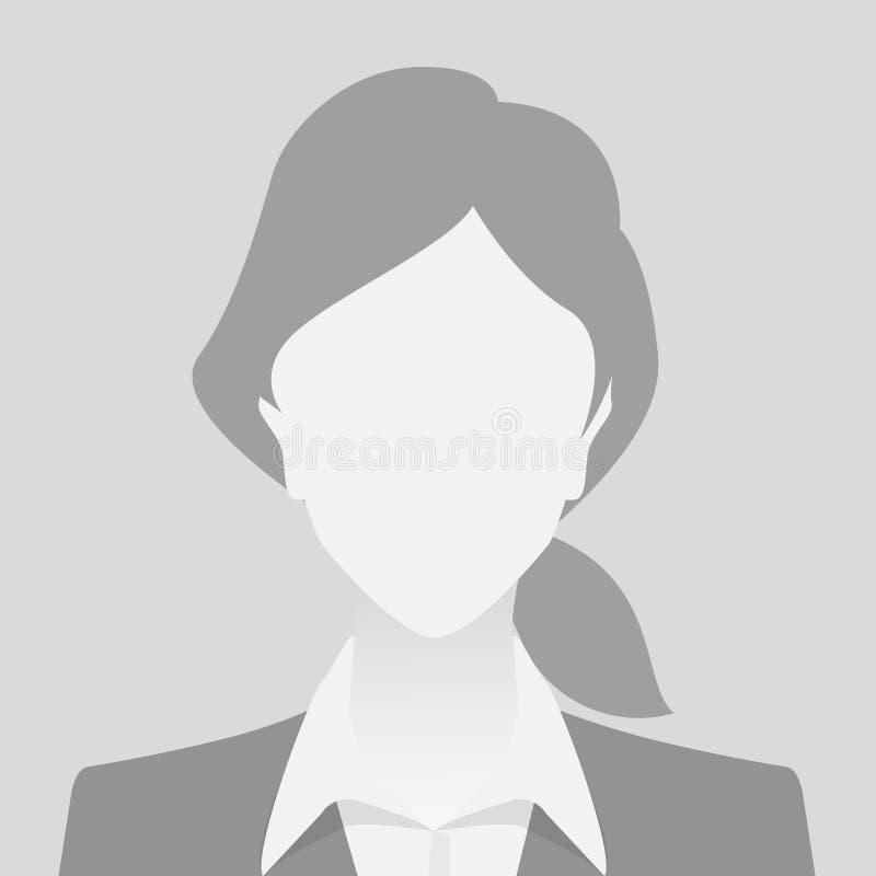Mujer gris del placeholder de la foto de la persona ilustración del vector