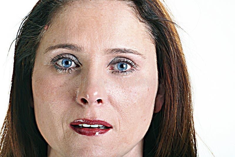 Mujer gritadora fotos de archivo