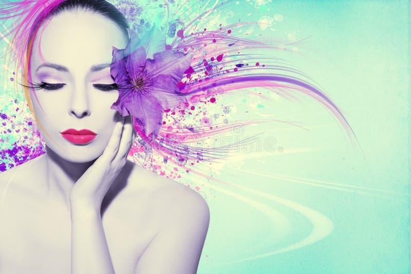 Download Mujer hermosa foto de archivo. Imagen de hermoso, ilustraciones - 41911600