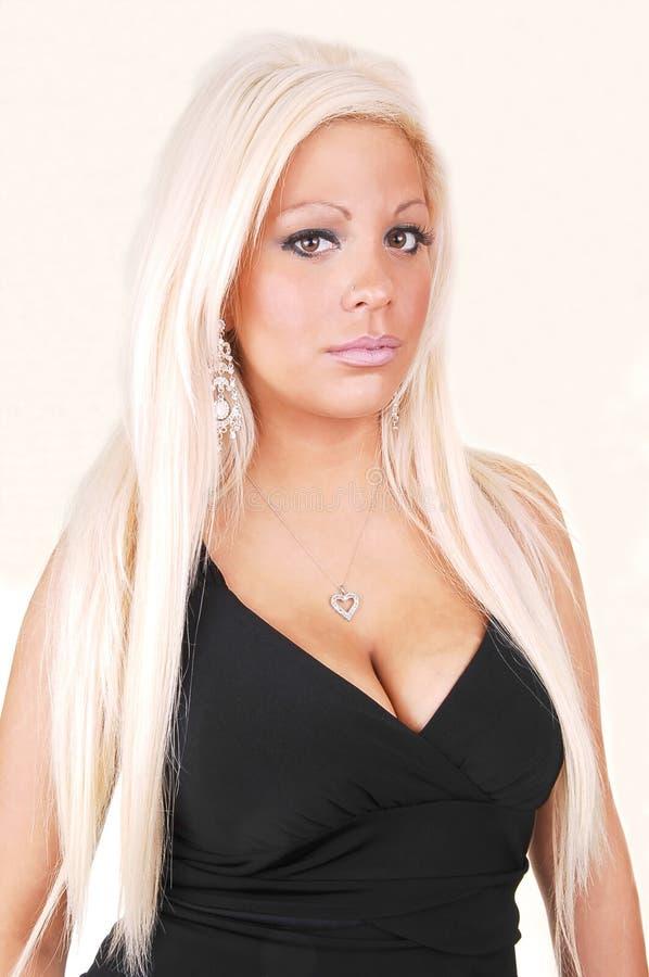 Mujer hermosa con el pelo blanco, rubio. fotos de archivo libres de regalías