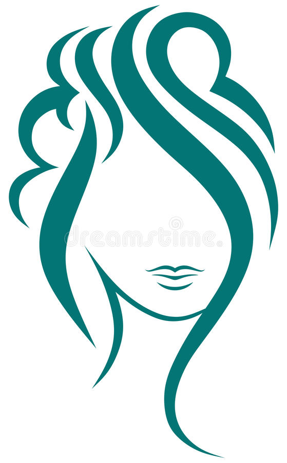 Mujer hermosa con el pelo largo libre illustration