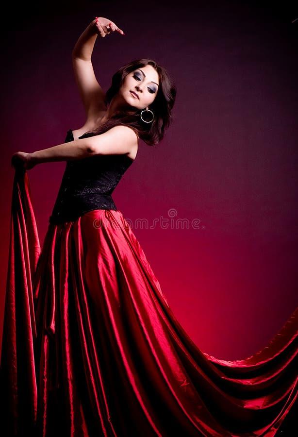 Mujer hermosa de Carmen del flamenco fotografía de archivo libre de regalías