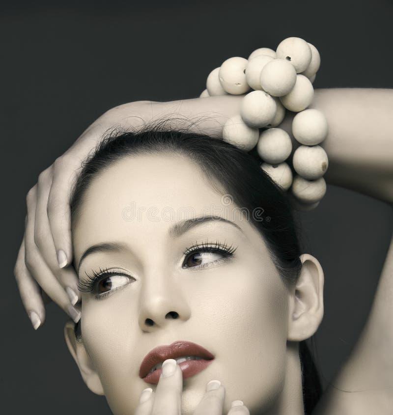 Mujer hermosa de Vinatge imagen de archivo libre de regalías
