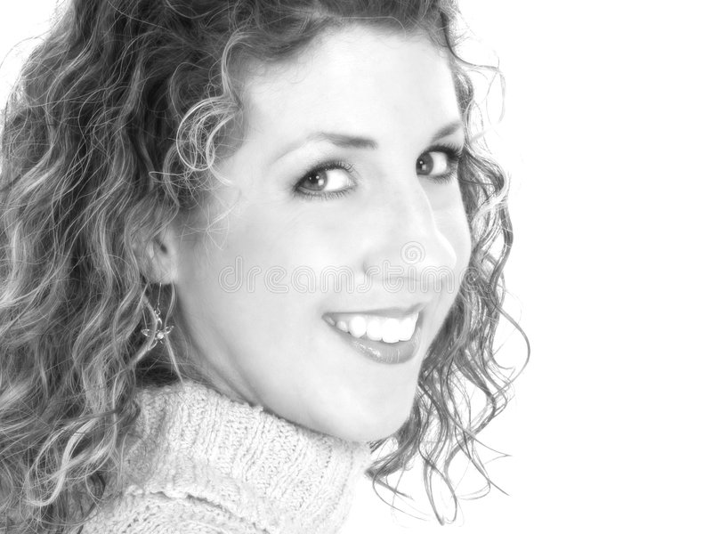 Mujer hermosa en blanco y negro fotografía de archivo libre de regalías