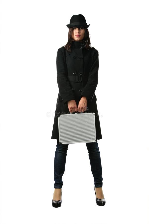 Mujer hermosa en negro fotos de archivo libres de regalías