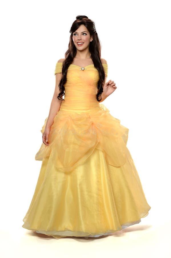 Mujer hermosa en princesa Costume fotografía de archivo libre de regalías