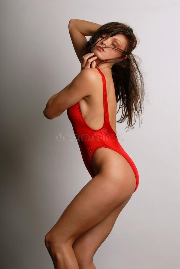 Mujer hermosa en traje de baño fotografía de archivo