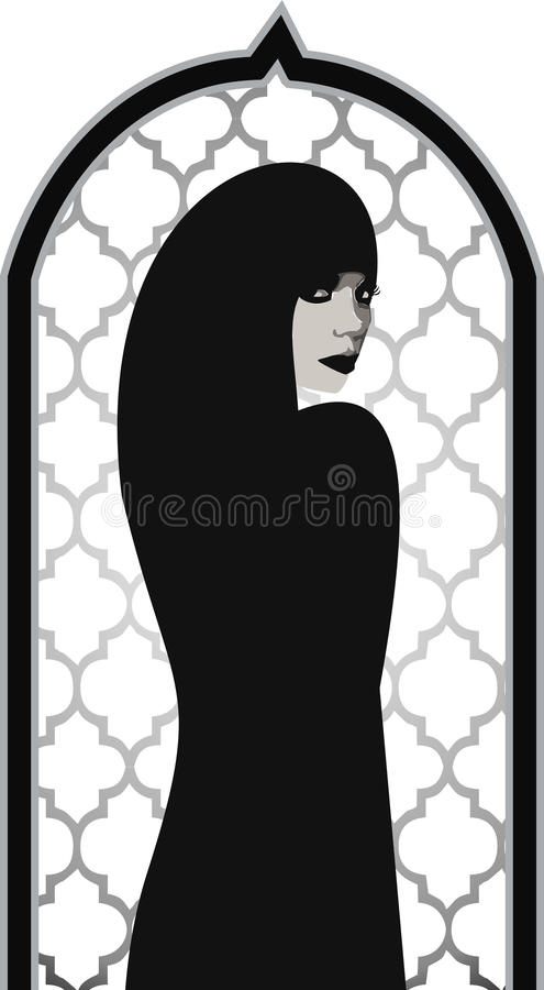 Mujer hermosa musulmán libre illustration