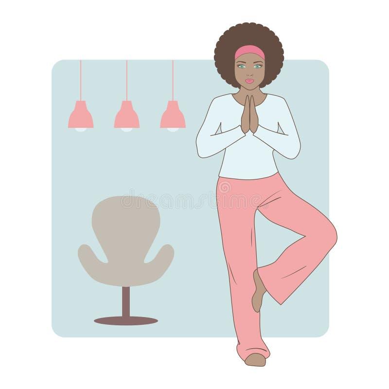 Mujer hermosa que ejercita yoga fotos de archivo