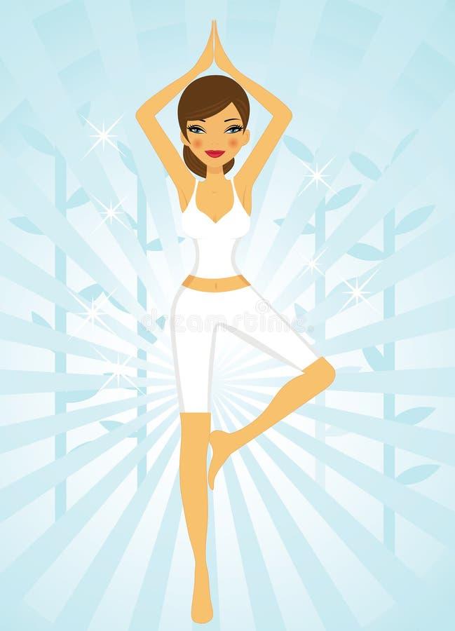 Mujer hermosa que hace yoga libre illustration
