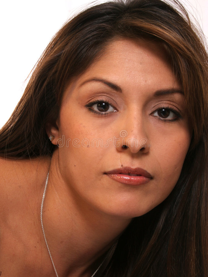 Mujer hispánica hermosa fotografía de archivo libre de regalías