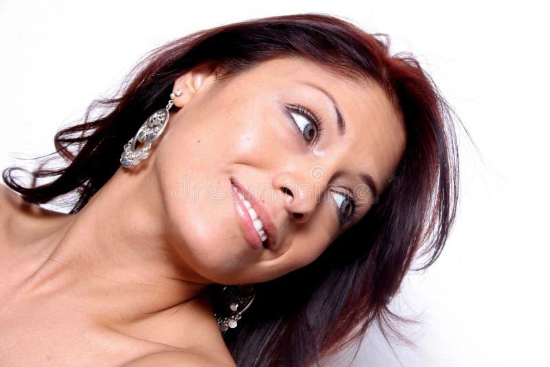 Mujer hispánica hermosa imagen de archivo