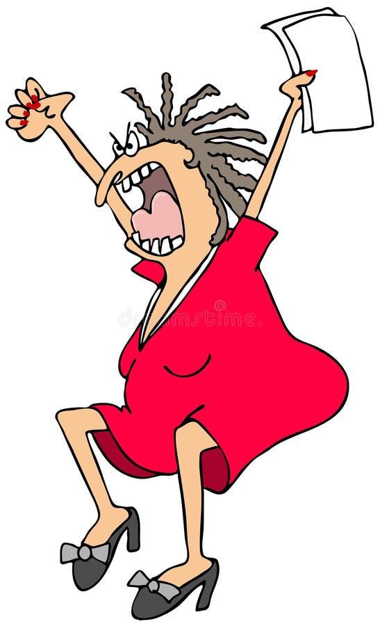 Mujer histérica ilustración del vector