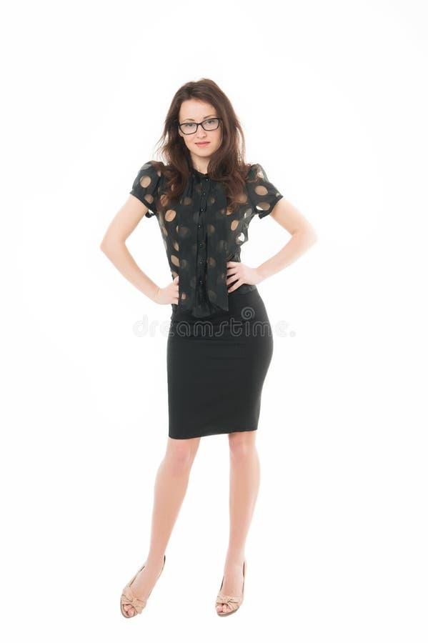 Mujer independiente acertada de sensación Coche del negocio de la señora Profesor o conferenciante atractivo de la mujer Señora d imagen de archivo libre de regalías