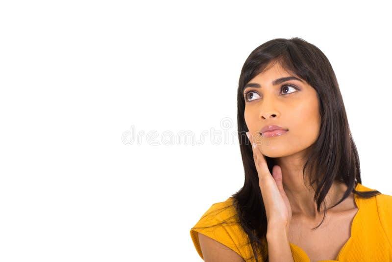 Download Mujer india pensativa foto de archivo. Imagen de magnífico - 42425372