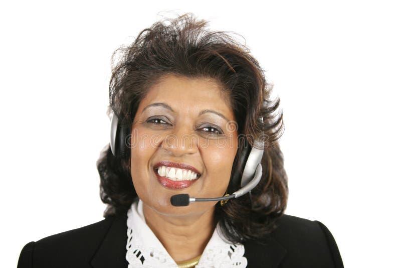 Mujer india - servicio de atención al cliente imagen de archivo