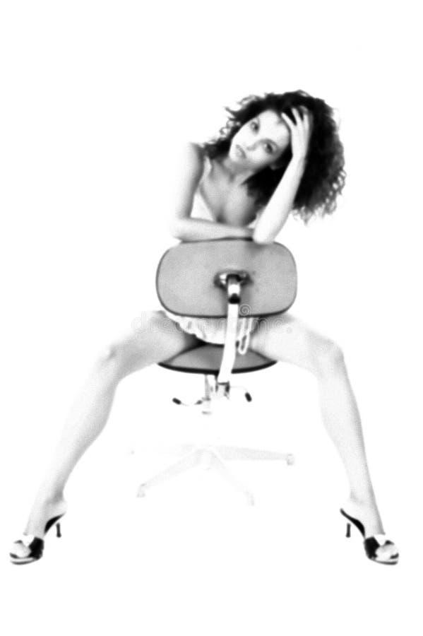 Mujer infrarroja atractiva foto de archivo libre de regalías