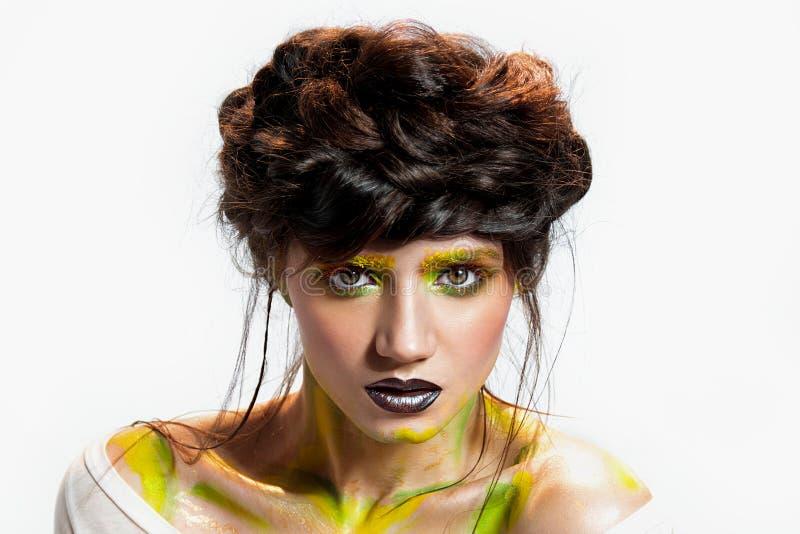 Mujer joven, arte del maquillaje fotografía de archivo libre de regalías