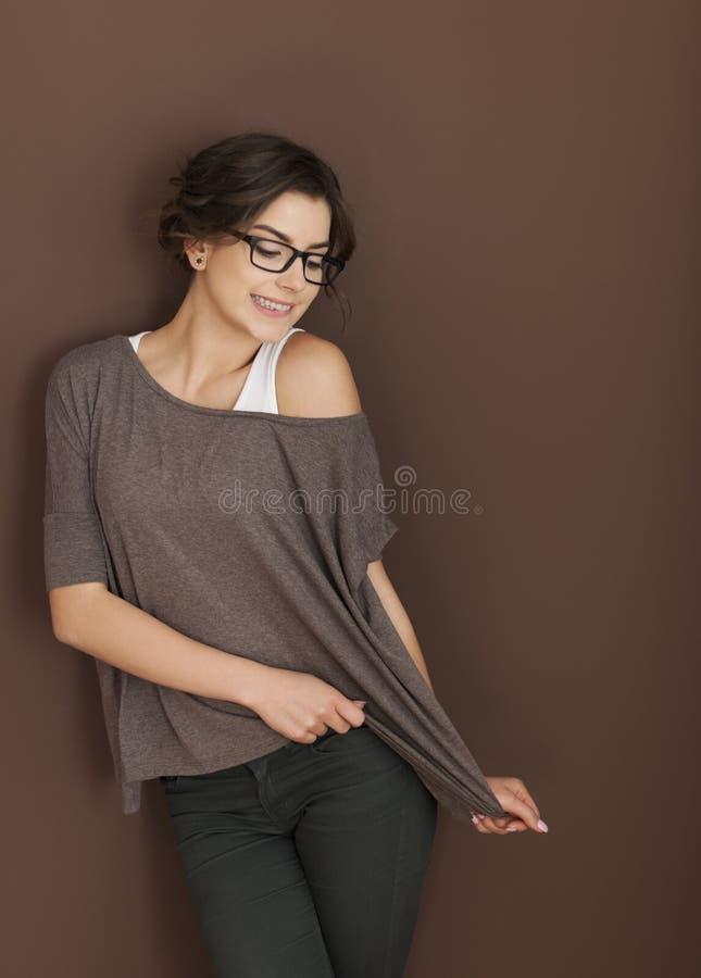 Mujer joven atractiva fotografía de archivo