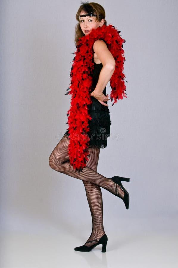 Mujer joven atractiva vestida como aleta imágenes de archivo libres de regalías