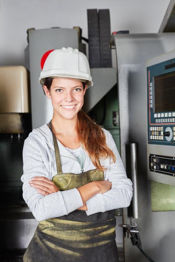 Mujer joven como trabajador seguro de sí mismo imagenes de archivo