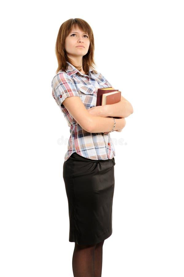 Mujer joven con el libro foto de archivo libre de regalías