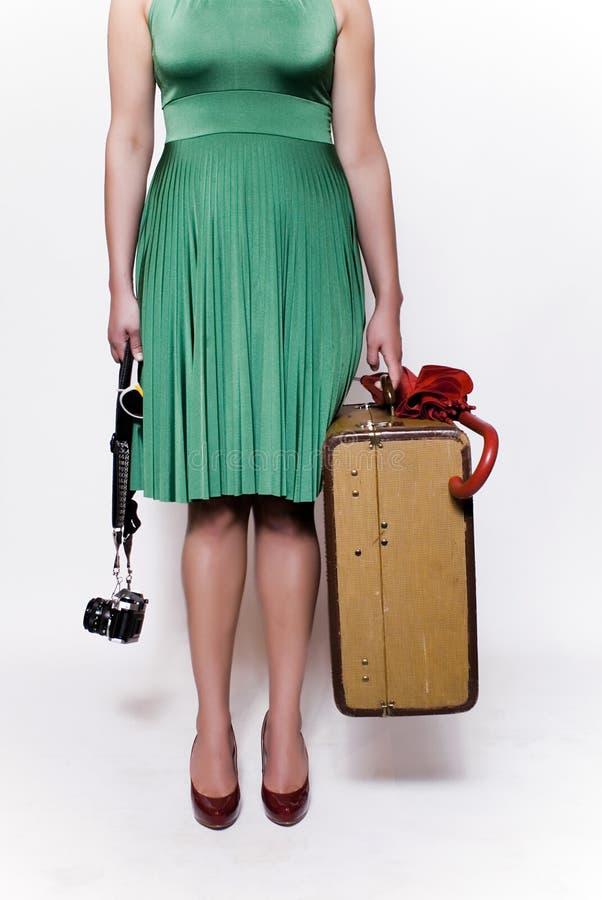 Mujer joven con el paraguas imagen de archivo libre de regalías
