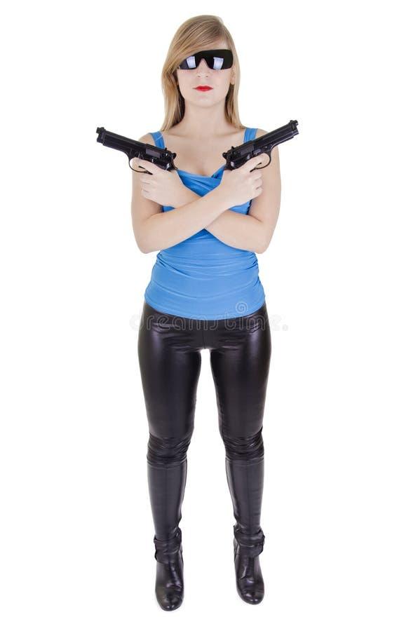 Mujer joven con los armas foto de archivo libre de regalías