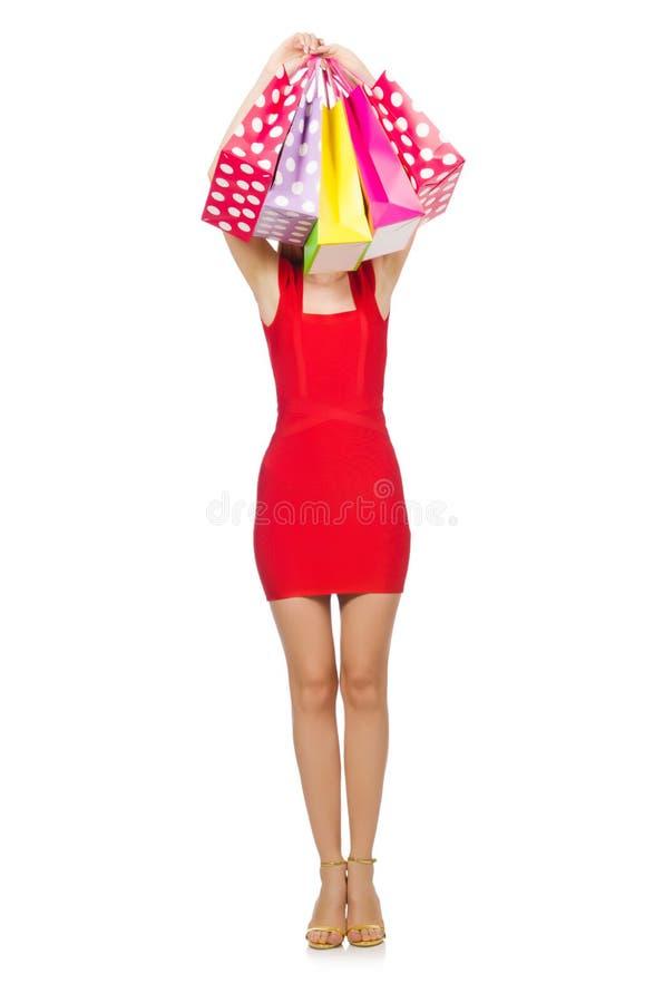 Download Mujer Joven Con Los Bolsos De Compras Imagen de archivo - Imagen de alegre, persona: 41913087