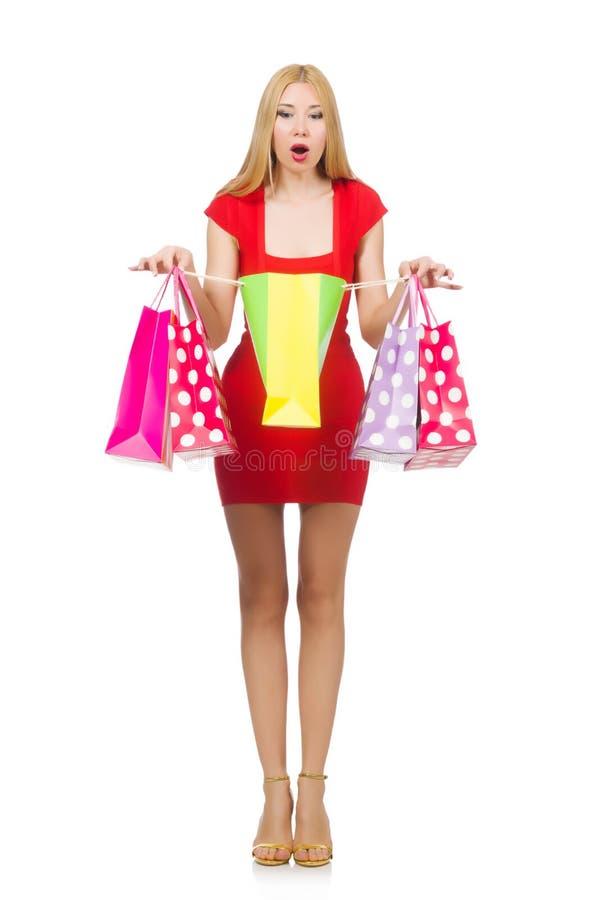 Download Mujer Joven Con Los Bolsos De Compras Foto de archivo - Imagen de regalo, señora: 41913090
