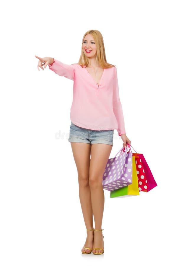 Download Mujer Joven Con Los Bolsos De Compras Stock de ilustración - Ilustración de lujo, alegría: 41913139