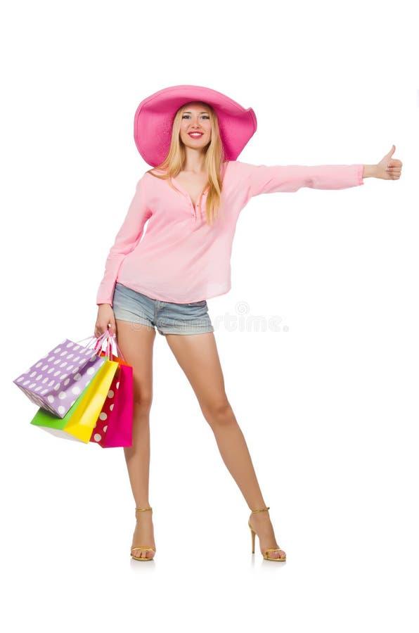 Download Mujer Joven Con Los Bolsos De Compras Imagen de archivo - Imagen de holiday, diversión: 41913145