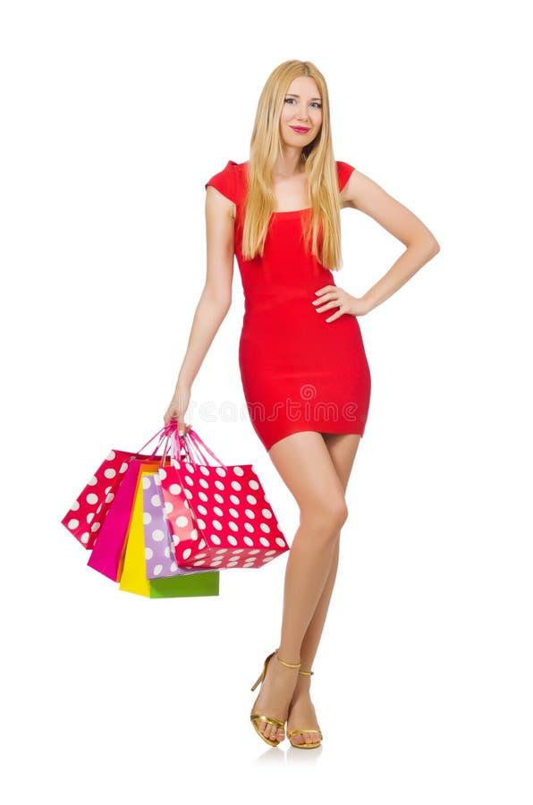 Download Mujer Joven Con Los Bolsos De Compras Imagen de archivo - Imagen de laughing, belleza: 41913149