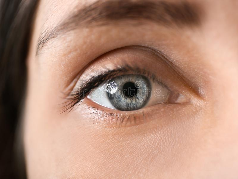Mujer joven con los ojos hermosos, primer imagen de archivo