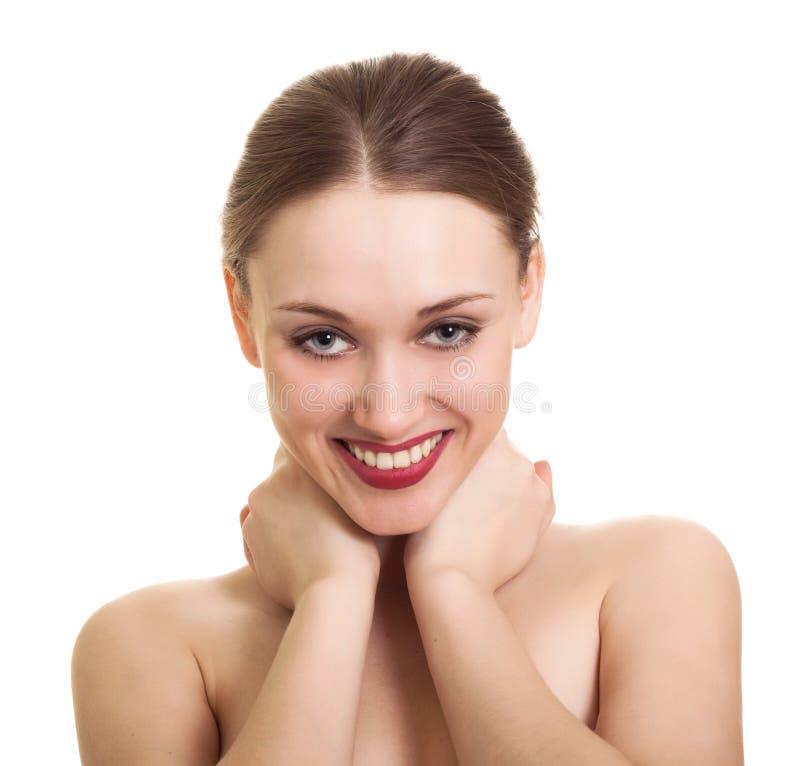 Mujer joven con sonrisa hermosa foto de archivo libre de regalías