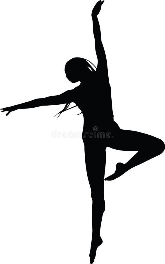 Mujer joven danding stock de ilustración