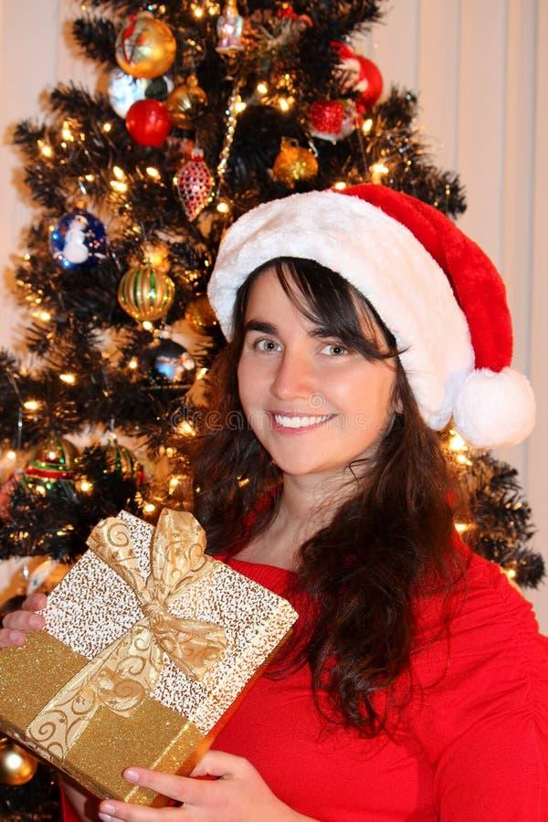 Mujer joven de la Navidad imágenes de archivo libres de regalías