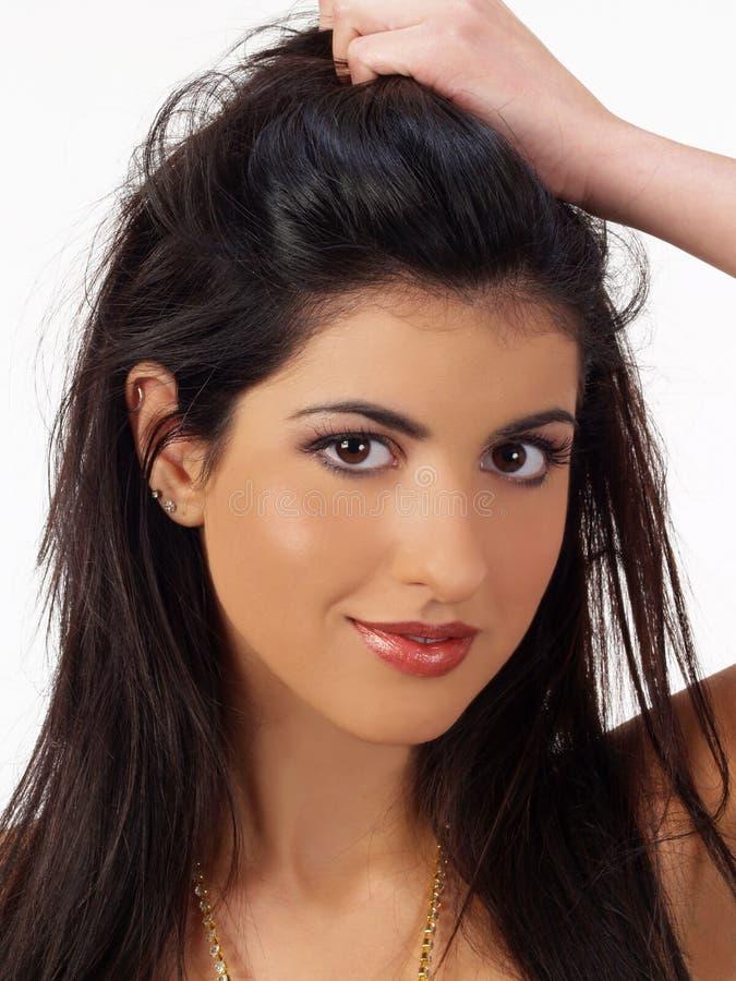 Mujer joven de Oriente Medio del retrato fotografía de archivo