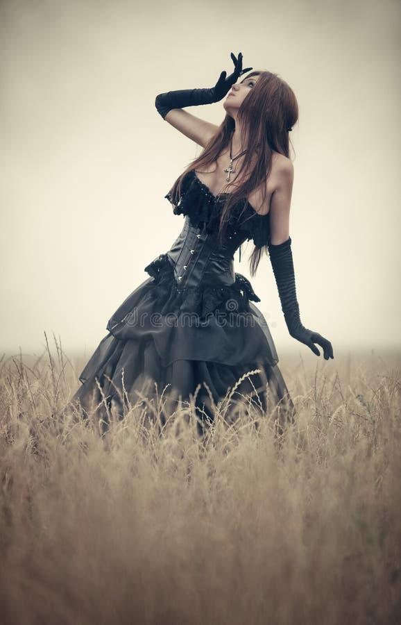Mujer joven del goth fotos de archivo