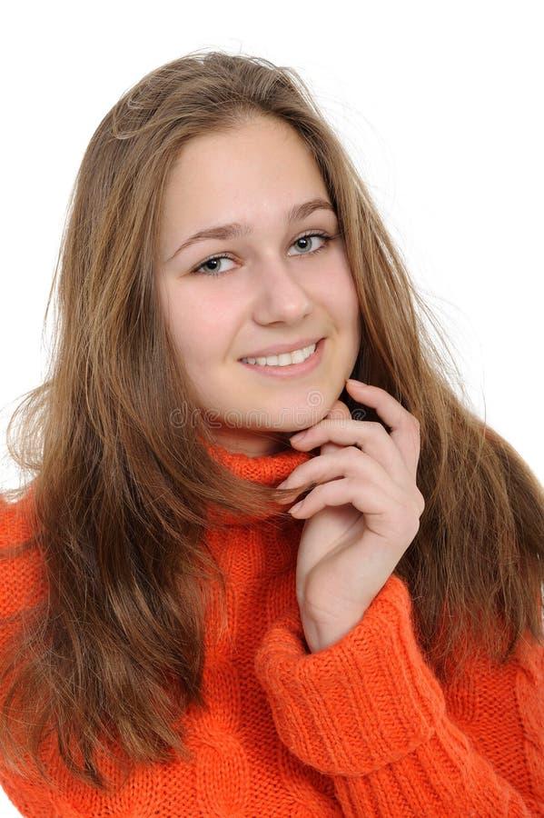 Mujer joven del invierno fotos de archivo
