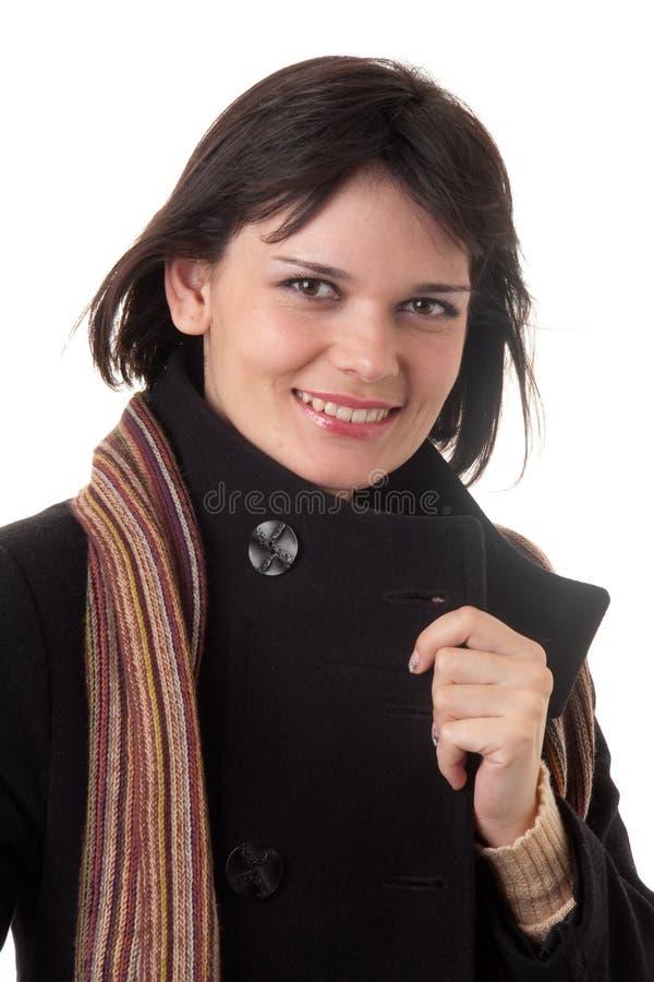 Download Mujer joven en abrigo imagen de archivo. Imagen de humano - 7284013
