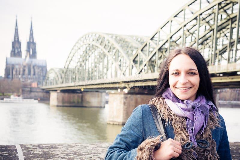 Mujer joven en Colonia foto de archivo libre de regalías