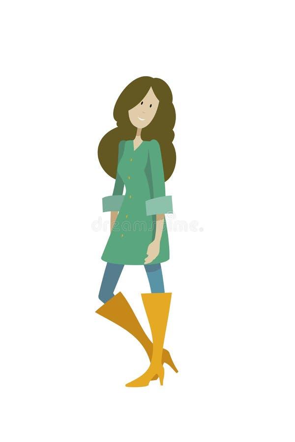 Mujer joven 15 ilustración del vector