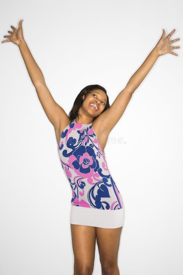 Mujer joven feliz. imagen de archivo libre de regalías