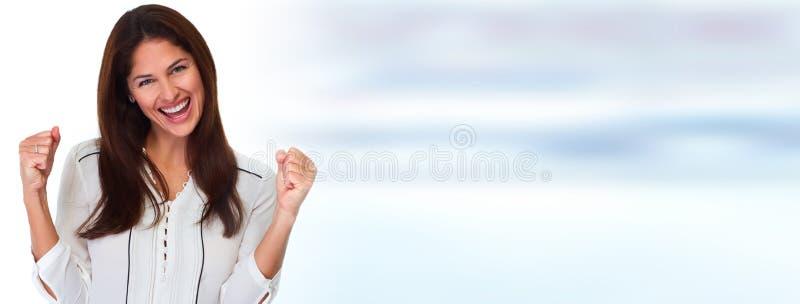 Mujer joven feliz fotos de archivo