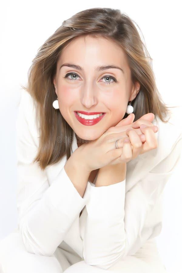 Mujer joven feliz foto de archivo libre de regalías