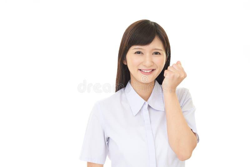 Mujer joven feliz fotos de archivo libres de regalías