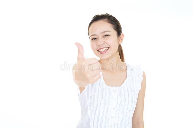 Mujer joven feliz fotografía de archivo